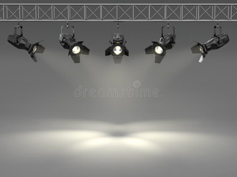 Φωτισμένος επίκεντρα τοίχος. Διάστημα για το κείμενο ελεύθερη απεικόνιση δικαιώματος