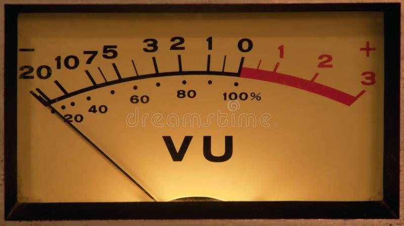 φωτισμένος μετρητής VU στοκ φωτογραφία