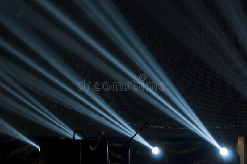 Φωτισμός για τη συναυλία στοκ εικόνες