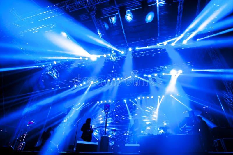 Φωτισμός για τη συναυλία στοκ εικόνα με δικαίωμα ελεύθερης χρήσης