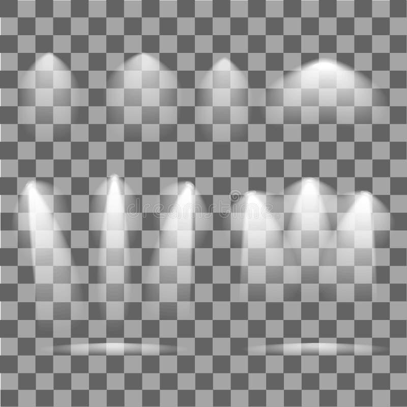 Φωτισμός σκηνής Φωτεινός φωτισμός υποβάθρου με τα επίκεντρα απεικόνιση αποθεμάτων