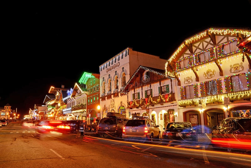 Φωτισμός Χριστουγέννων σε Leavenworth 6 στοκ φωτογραφία με δικαίωμα ελεύθερης χρήσης