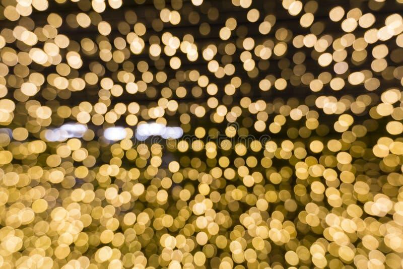 Φωτισμός Bokah στη νύχτα στοκ φωτογραφίες