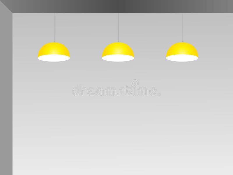 Φωτισμός Downlight, απεικόνιση σχεδίου στοκ φωτογραφίες με δικαίωμα ελεύθερης χρήσης