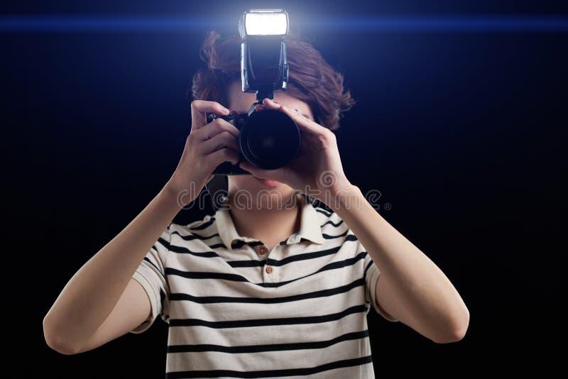 Φωτογράφιση με τη λάμψη στοκ εικόνες