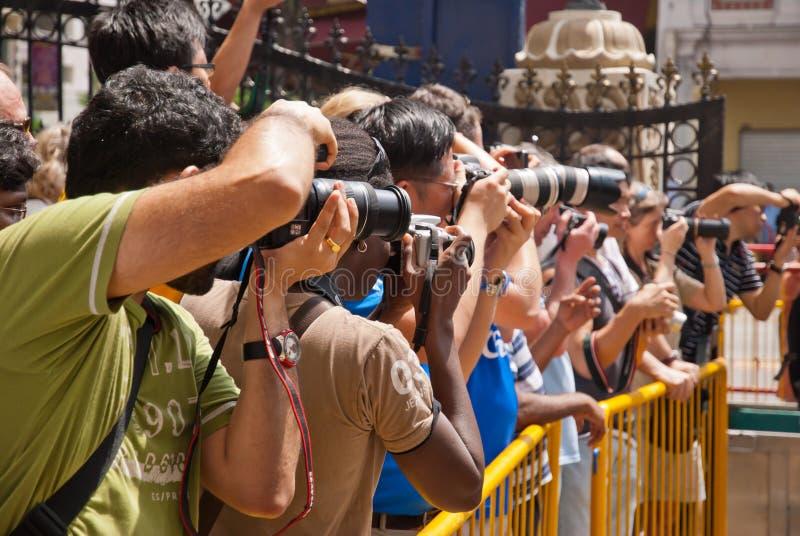 φωτογράφοι γεγονότος στοκ εικόνες με δικαίωμα ελεύθερης χρήσης
