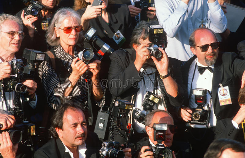 Φωτογράφοι παπαράτσι στα βραβείο 'Οσκαρ στοκ εικόνες με δικαίωμα ελεύθερης χρήσης