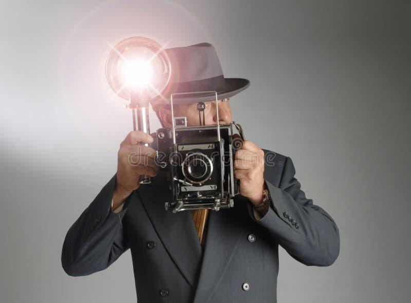 φωτογράφος αναδρομικός στοκ φωτογραφία με δικαίωμα ελεύθερης χρήσης