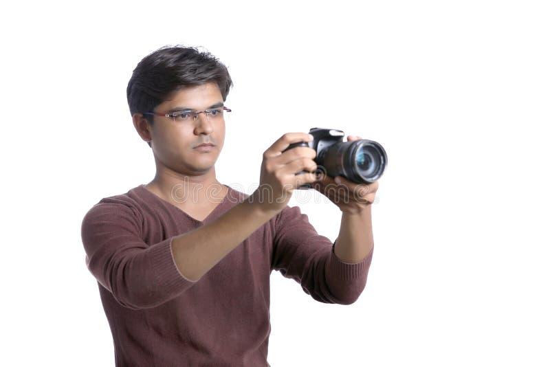 Φωτογράφος με τη κάμερα στοκ εικόνες με δικαίωμα ελεύθερης χρήσης