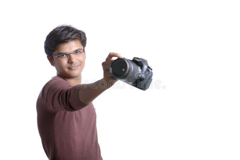 Φωτογράφος με τη κάμερα στοκ εικόνα με δικαίωμα ελεύθερης χρήσης