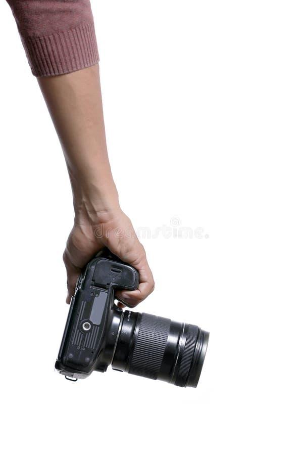 Φωτογράφος με τη κάμερα στοκ φωτογραφίες