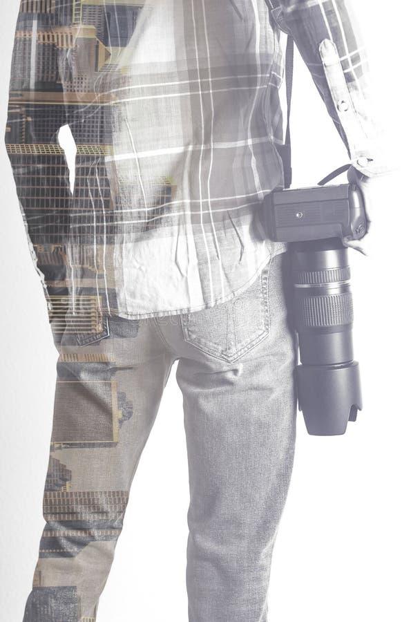 Φωτογράφος ταξιδιού στοκ εικόνες με δικαίωμα ελεύθερης χρήσης
