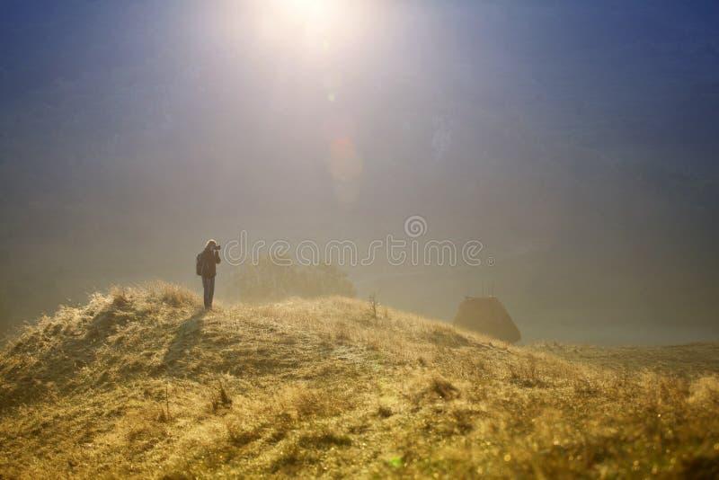 Φωτογράφος το πρωί στοκ εικόνες με δικαίωμα ελεύθερης χρήσης
