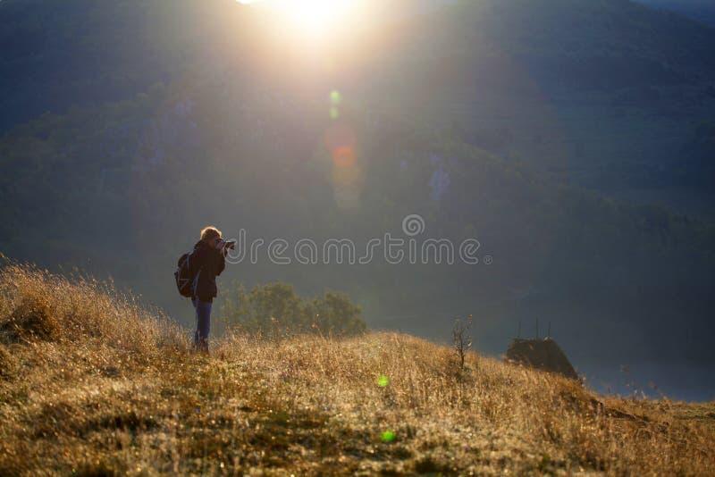 Φωτογράφος το πρωί στοκ εικόνα