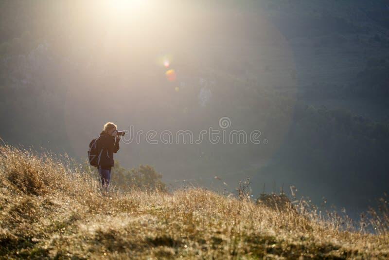 Φωτογράφος το πρωί στοκ φωτογραφίες με δικαίωμα ελεύθερης χρήσης