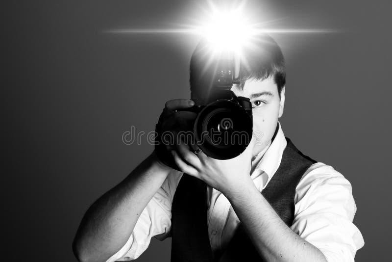φωτογράφος φωτογραφικών μηχανών στοκ φωτογραφία με δικαίωμα ελεύθερης χρήσης