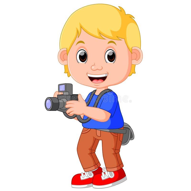 Φωτογράφος χαρακτήρα κινουμένων σχεδίων διανυσματική απεικόνιση