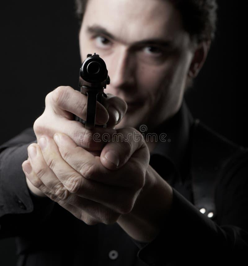 φωτογραφία ατόμων πυροβόλ στοκ φωτογραφίες με δικαίωμα ελεύθερης χρήσης