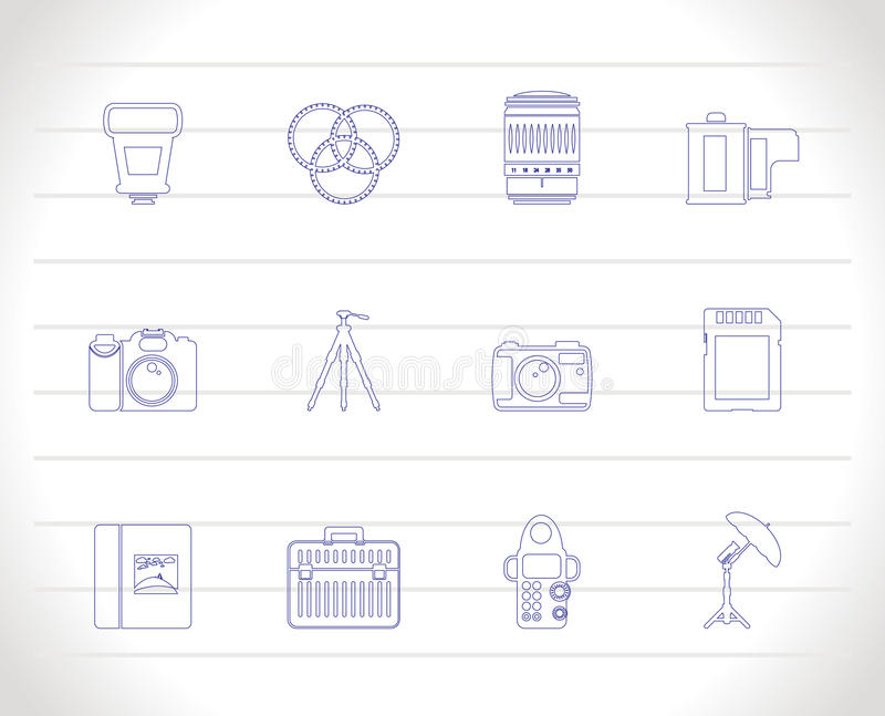 φωτογραφία εικονιδίων ε& απεικόνιση αποθεμάτων