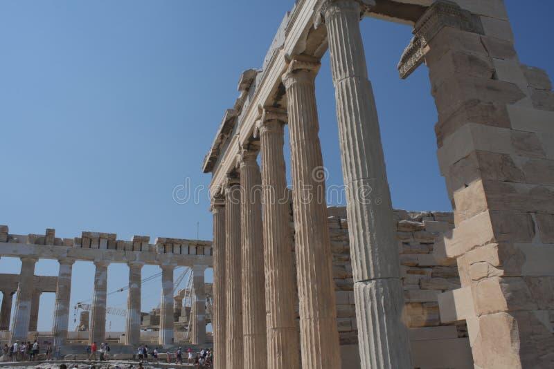 Φωτογραφία εικονικού Erechtheion με τις διάσημες καρυάτιδες, λόφος ακρόπολη, ιστορικό κέντρο της Αθήνας, Αττική, Ελλάδα στοκ φωτογραφίες με δικαίωμα ελεύθερης χρήσης