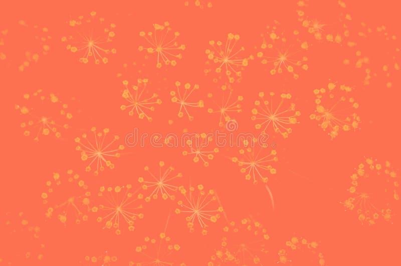 Φωτογραφία επίδρασης Duoton με τα λουλούδια άνηθου στο θολωμένο υπόβαθρο r r στοκ φωτογραφία με δικαίωμα ελεύθερης χρήσης