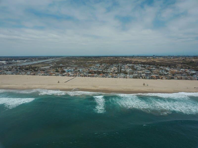 Φωτογραφία κηφήνων ακτών Καλιφόρνιας στοκ εικόνες