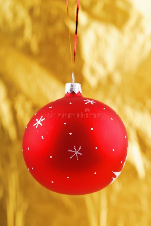Φωτογραφία κινηματογραφήσεων σε πρώτο πλάνο κόκκινο bal Χριστουγέννων στοκ εικόνες