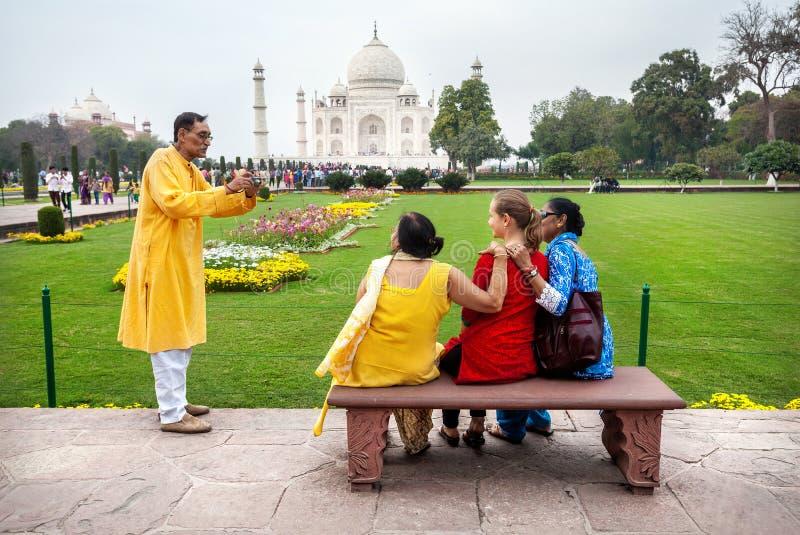 Φωτογραφία κοντά σε Taj Mahal στοκ εικόνες με δικαίωμα ελεύθερης χρήσης