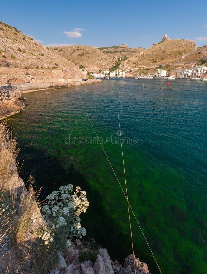 Φωτογραφία Μαύρης Θάλασσας κοντά σε Balaklava. Ουκρανία στοκ εικόνα με δικαίωμα ελεύθερης χρήσης