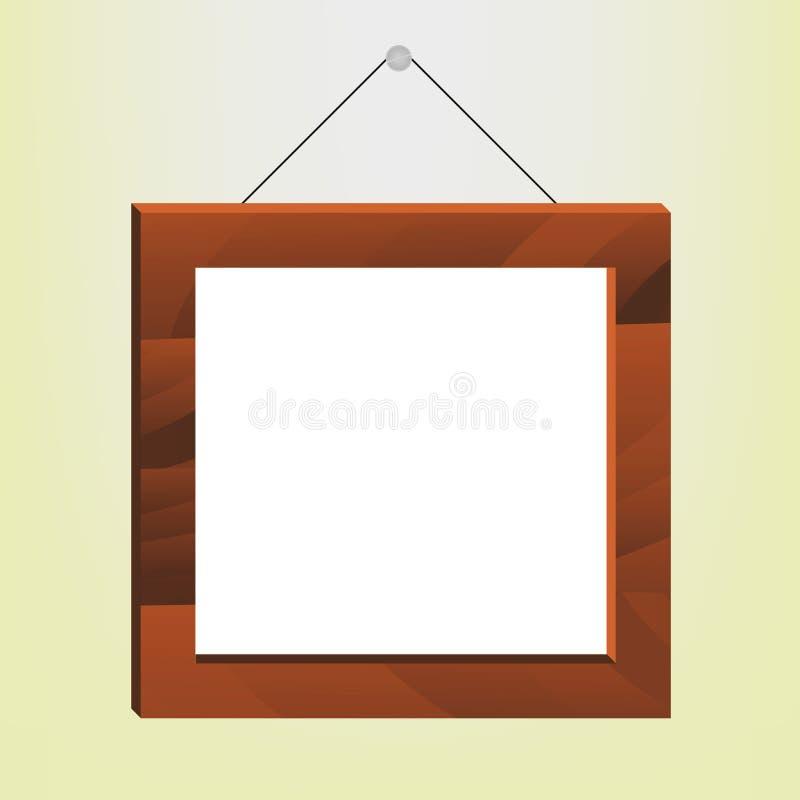 φωτογραφία πλαισίων ξύλινη ελεύθερη απεικόνιση δικαιώματος