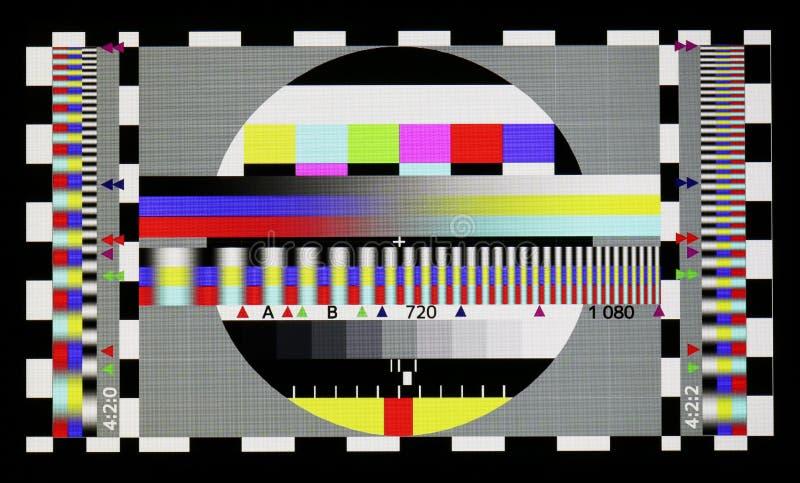 Φωτογραφία που πυροβολείται του τυποποιημένου βιομηχανικού φύλλου δοκιμής έγχρωμης τηλεόρασης στοκ εικόνες με δικαίωμα ελεύθερης χρήσης