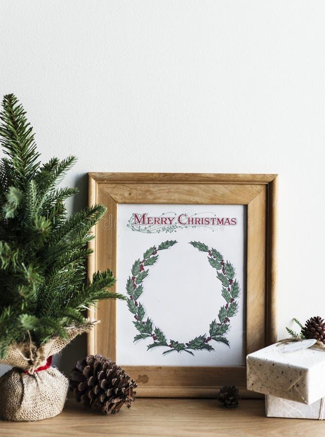 Φωτογραφία σχεδίων χεριών της κάρτας ημέρας των Χριστουγέννων στοκ φωτογραφία με δικαίωμα ελεύθερης χρήσης