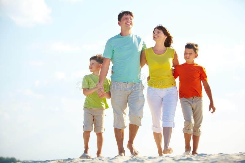 Οικογένεια στις διακοπές στοκ εικόνες