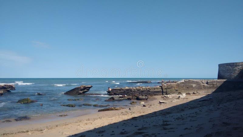 Φωτογραφία της παραλίας Miramar Αργεντινοί στοκ εικόνα