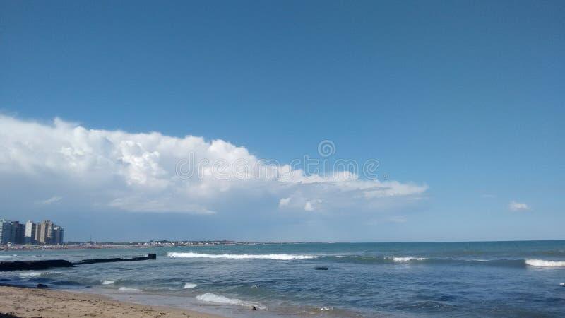 Φωτογραφία της παραλίας Miramar Αργεντινοί στοκ εικόνα με δικαίωμα ελεύθερης χρήσης