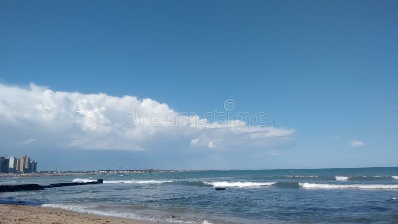 Φωτογραφία της παραλίας Miramar Αργεντινοί στοκ φωτογραφίες