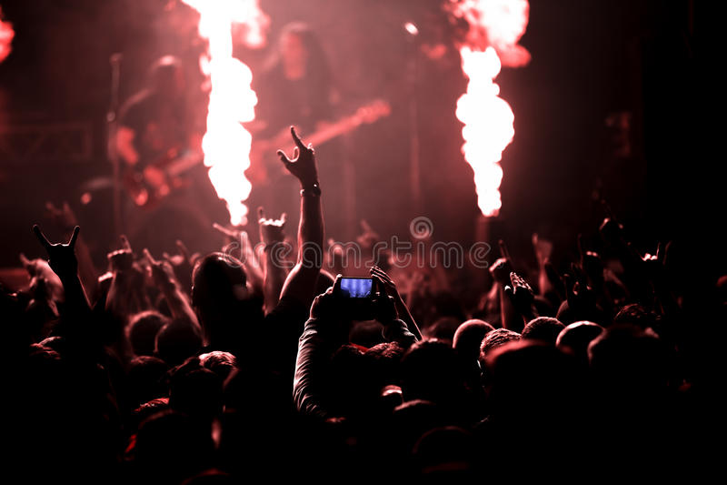 Φωτογραφία της συναυλίας βράχου στοκ φωτογραφίες με δικαίωμα ελεύθερης χρήσης