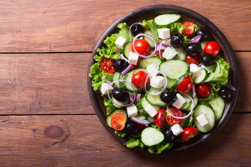 Φωτογραφία της φρέσκιας ελληνικής σαλάτας στοκ φωτογραφίες με δικαίωμα ελεύθερης χρήσης