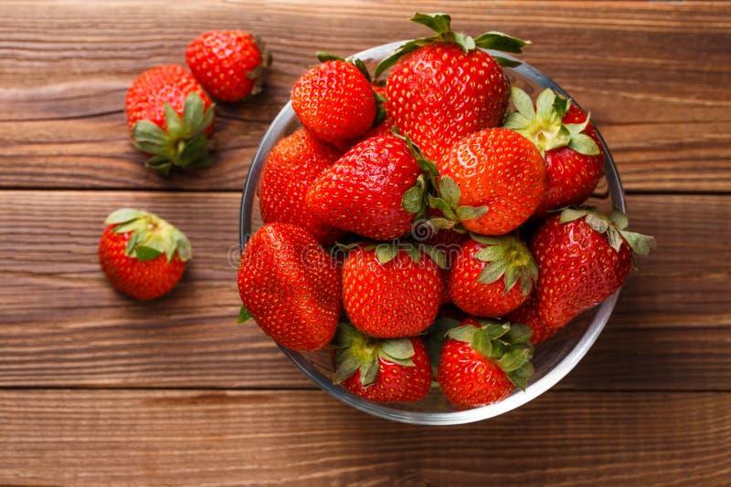 Φωτογραφία της φρέσκιας ώριμης φράουλας στοκ εικόνα με δικαίωμα ελεύθερης χρήσης