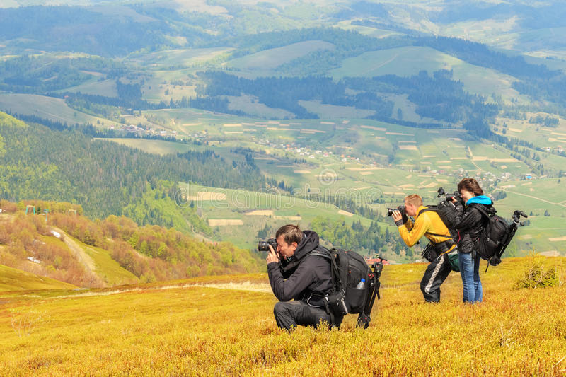 Φωτογραφία τοπίων Carpathians στοκ φωτογραφία