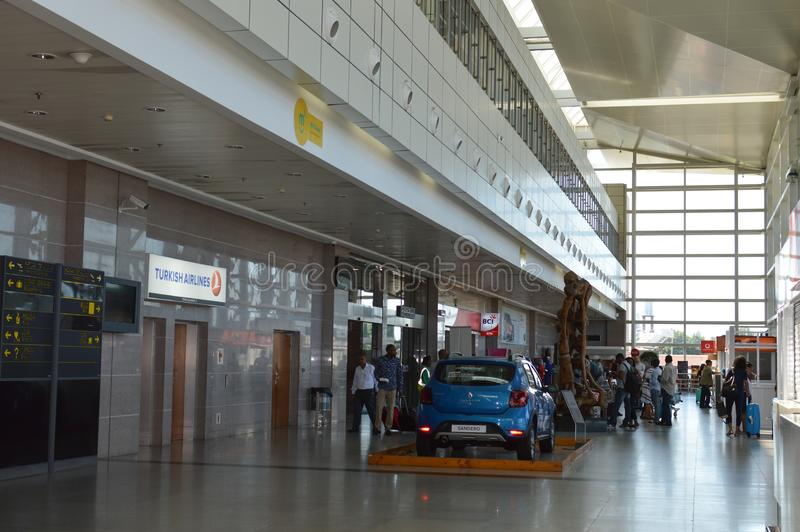Φωτογραφία του διεθνούς αερολιμένα του Μαπούτο στοκ φωτογραφία