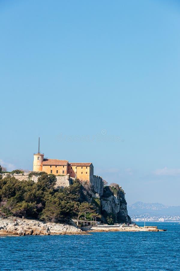 Φωτογραφία του νησιού Sainte marguerite Cannes στη Γαλλία και στη Γαλλική Ριβιέρα στοκ εικόνες