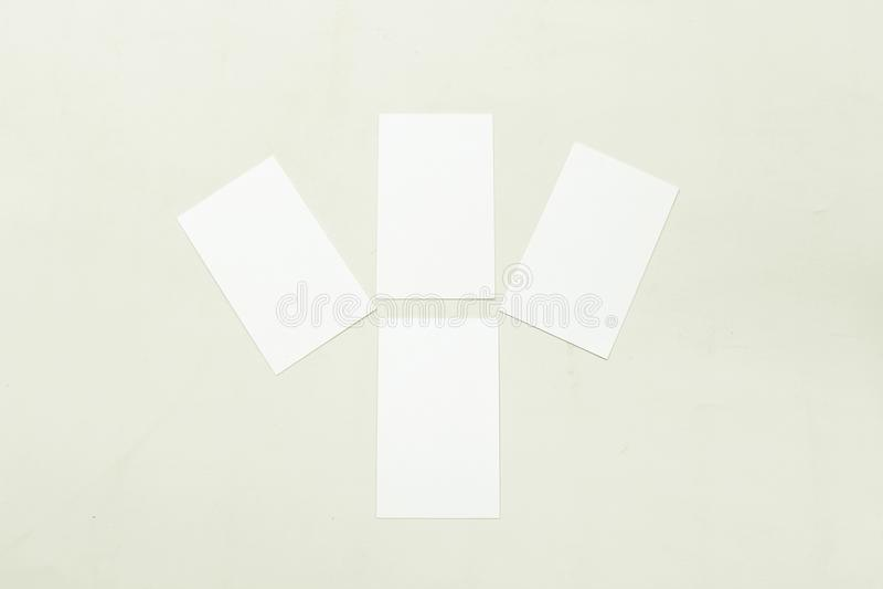 Φωτογραφία του σωρού επαγγελματικών καρτών στοκ φωτογραφία