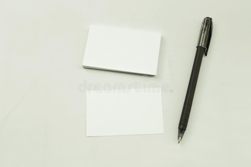 Φωτογραφία του σωρού επαγγελματικών καρτών στοκ εικόνες