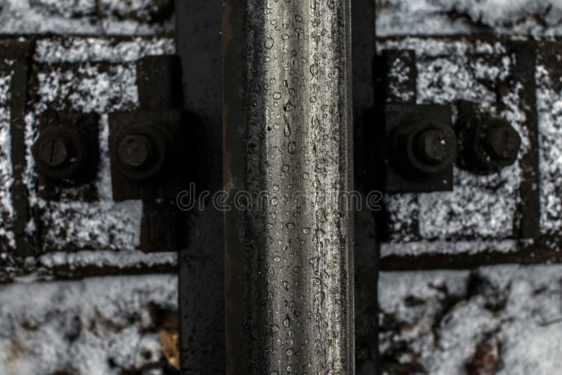 Φωτογραφία του υποβάθρου διαδρομών σιδηροδρόμων στοκ φωτογραφία με δικαίωμα ελεύθερης χρήσης