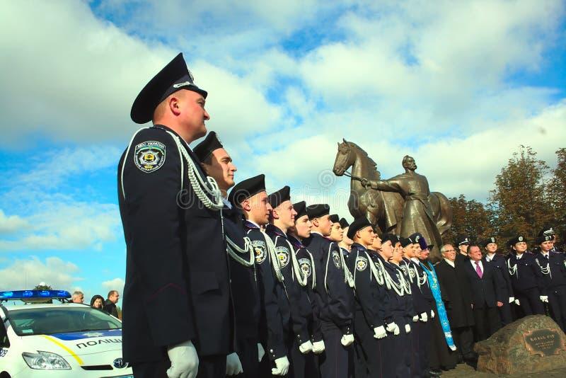 Φωτογραφία των νέων αστυνομικών στην Ουκρανία στοκ φωτογραφία