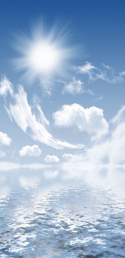 Φωτογραφία των σύννεφων και του ήλιου ελεύθερη απεικόνιση δικαιώματος