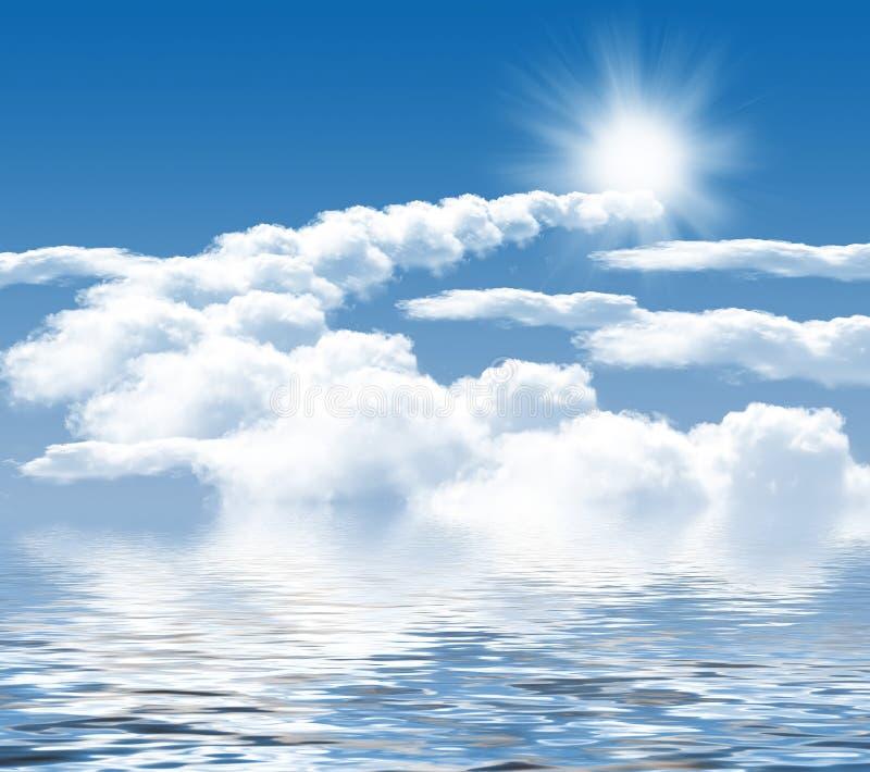 Φωτογραφία των σύννεφων και του ήλιου απεικόνιση αποθεμάτων