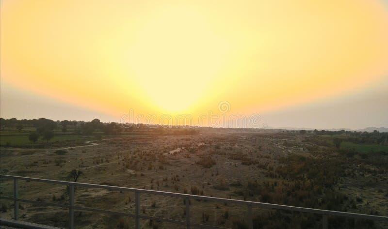 Φωτογραφία φύσης ηλιοβασιλέματος στοκ εικόνες