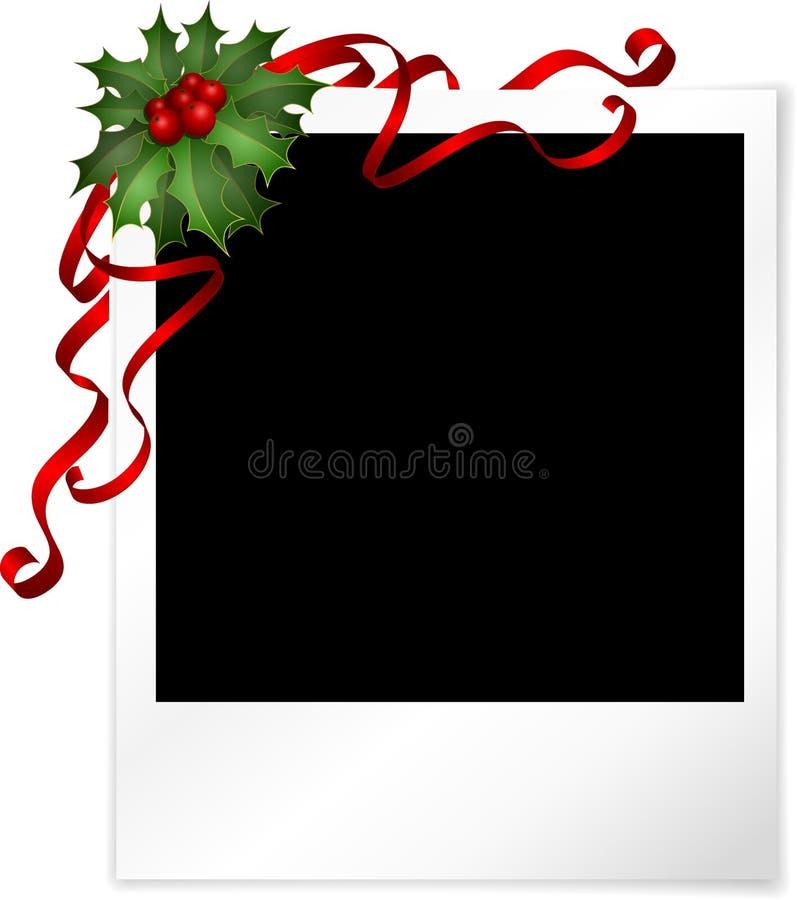 φωτογραφία Χριστουγέννω&n διανυσματική απεικόνιση